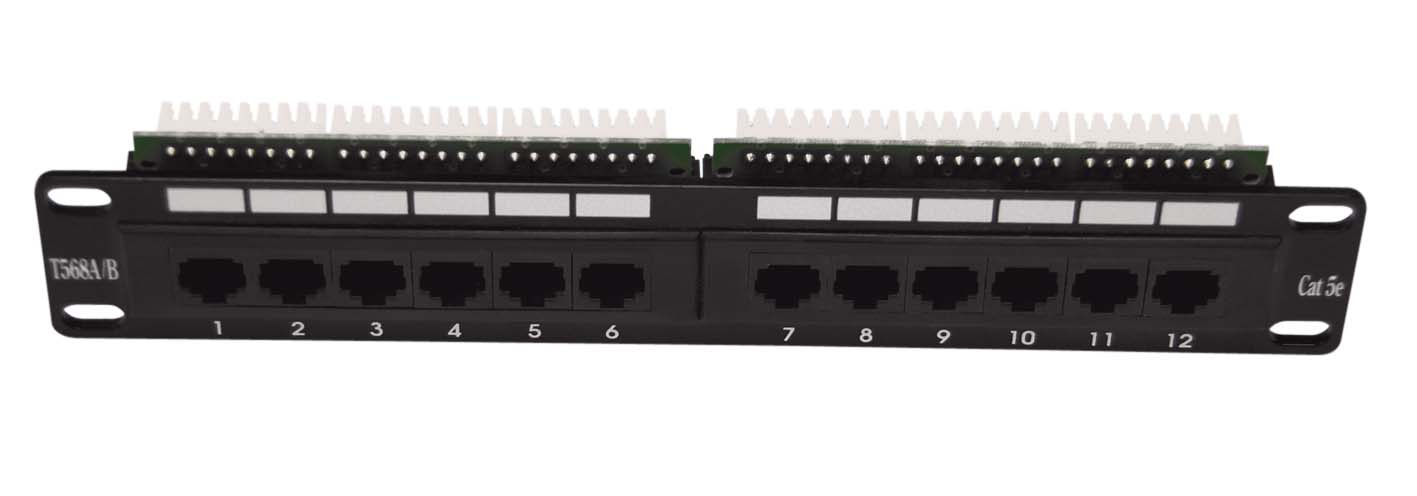 "Patch panel 10"" C5e 12Port 1U"