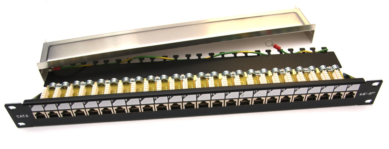 Patch panel EXCLUSIVE osazený 24 FTP Cat 6