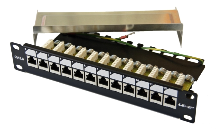 Patch panel EXLUSIVE 12 ports CAT 6 FTP